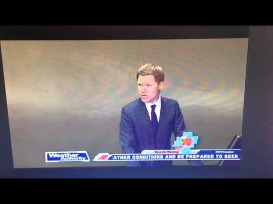 WTVA TV in Tupelo evacuates due to approaching tornado on April 28, 2014.
