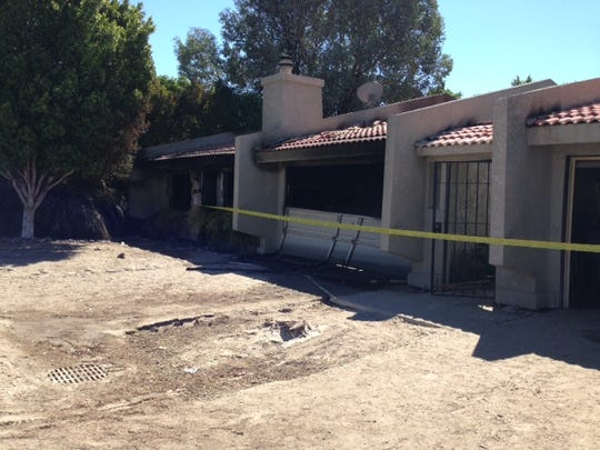 A fire broke out early Monday in a duplex in Bermuda Dunes.