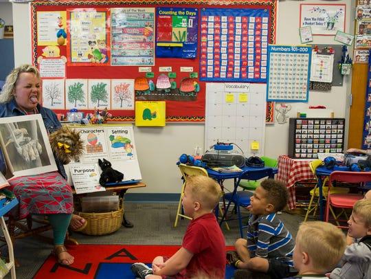 Mindy Matthews, a kindergarten teacher at Oak Hill