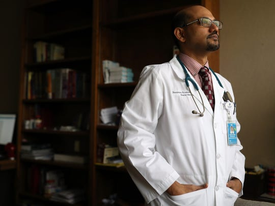 Dr. Narayanan Krishnamoorthy at his private practice Southern Medical Group on Friday, Feb. 18, 2018. Krishnamoorthy, who was born in India, currently practices under an H4 EAD visa, which the Trump administration has proposed to cut.