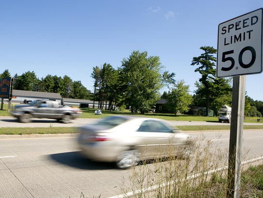 Cars head east on Highway 54 in Wisconsin Rapids, Tuesday,