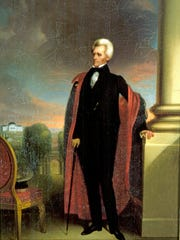 A portrait of Andrew Jackson.