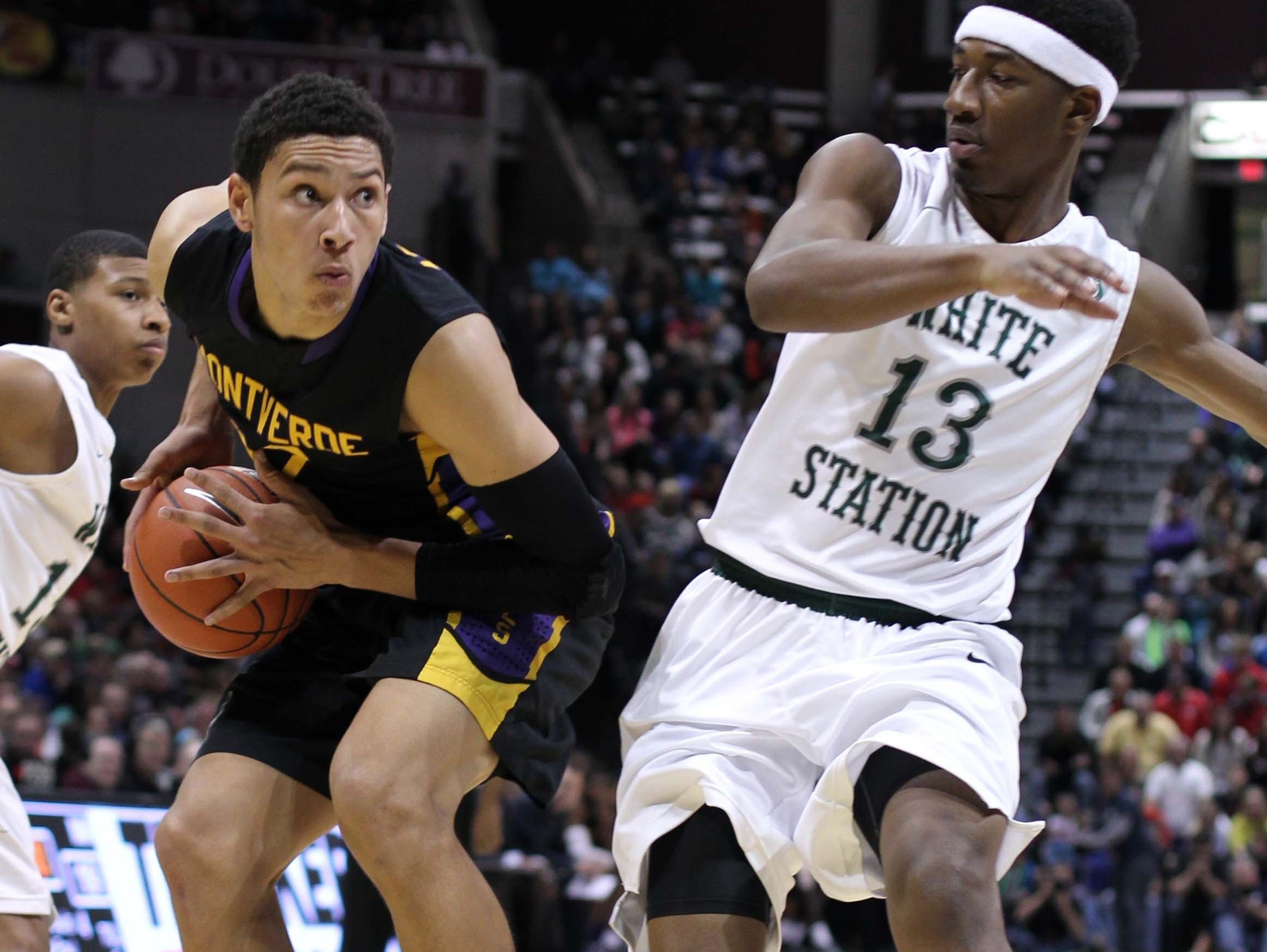 Ben Simmons, left, the No. 1 overall pick in the 2016 NBA Draft, played for tournament champion Montverde Academy (Montverde, Florida) in the 2014 Bass Pro Tournament of Champions