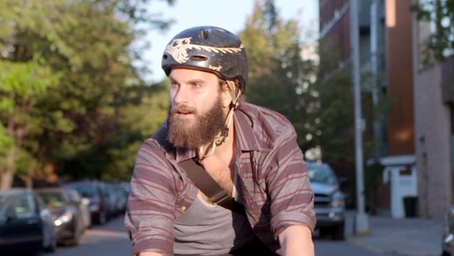 Ben Sinclair plays a cycling drug dealer in the series 'High Maintenance.'