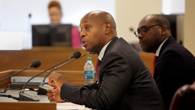 June 1, 2016 - Dorsey E. Hopson, Superintendent of the Shelby County Schools, responds to questions concerning the upcoming budget needs before the commission's budget and finance committee Wednesday morning. Shelby County Schools has asked for more than $27 million, an amount that could grow to $44.5 million with matching funds for charter schools, the state's Achievement School District and the six municipal school districts.