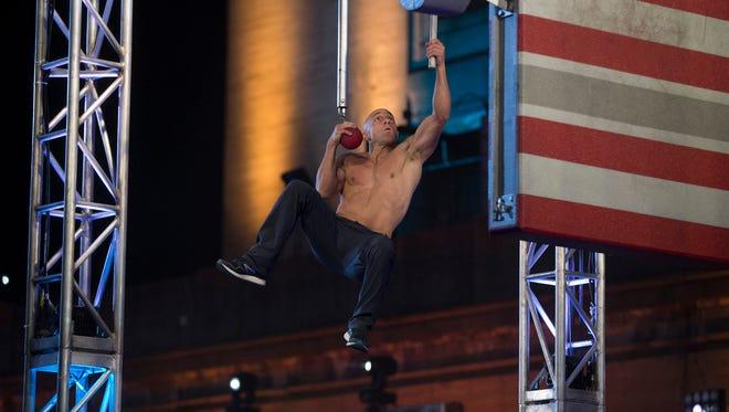 Carl Fantauzzo of Greece competes in the Philadelphia City Finals in American Ninja Warrior.