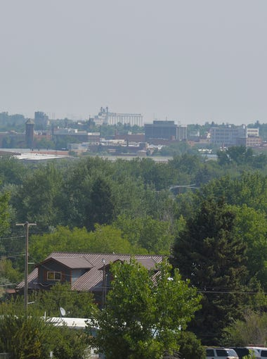 A high pressure system is moving smoke from California wildfires into central Montana making for hazy skies in Great Falls.  Air quality in Great Falls is rated as moderate, which could cause respiratory symptoms in unusually sensitive individuals.