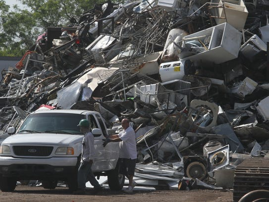 FILE: This is the scrap pile at Garden Street Iron