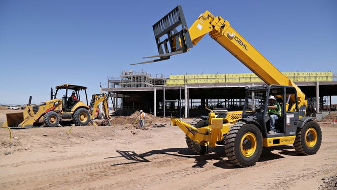 Construction is underway at 93rd Avenue and Northern in Glendale on the Desert Diamond West Valley Resort, the Tohono O'odham nation's newest casino project as seen in Glendale on April 17, 2015