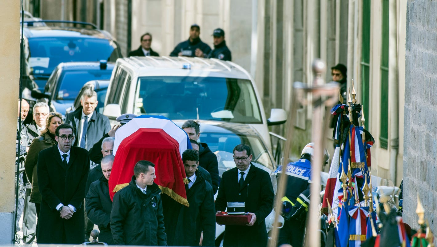 French PM Edouard Philippe leads funerals for 4 victims of Trebes extremist attack