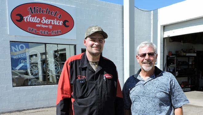 Mitchel Boomgaarn, left, gives Mario LaFragola credit for helping him start his new business.