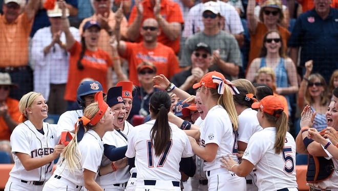 Auburn is discussing adding seats for softball at Jane B. Moore Field.