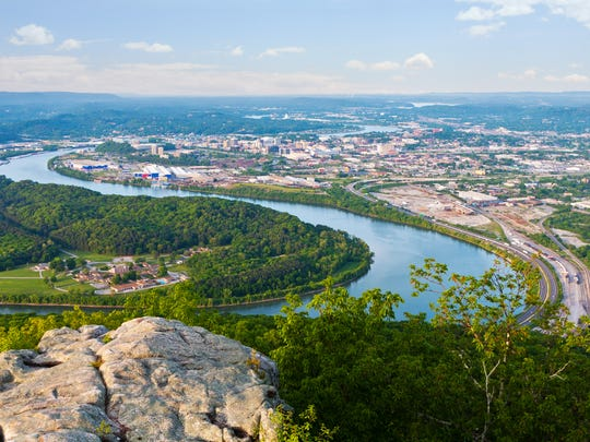 A view of Chattanooga from Lookout Mountain.