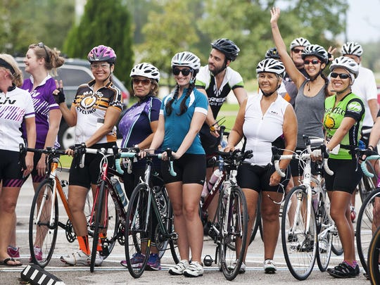 More than 85 area cyclists rode Sunday in the Global Solidarity Ride in Fort Myers. The ride was held to support the right for women to ride bicycles in Afghanistan and bring awareness to the first Afghan women's national cycling team. Liv, a cycling company, sponsored the worldwide event.