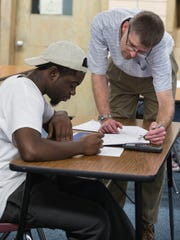 Calhoun Community High School math teacher Brian Demlow