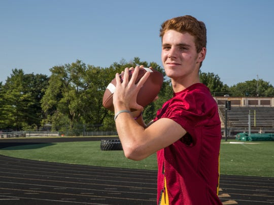 Mac Ayres, quarterback for Scecina Memorial High School,
