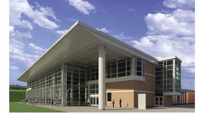 An artist's rendering of Ocean County College's new student center.