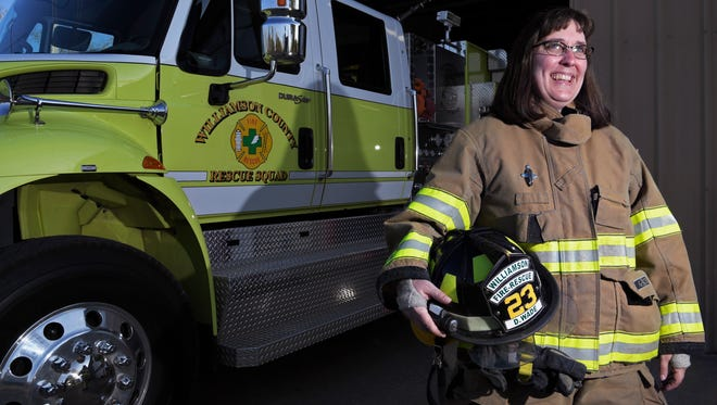 Dinah Wade is a volunteer firefighter with the Williamson County Rescue Squad. She is also a librarian at Freedom Intermediate School in Franklin who is passionate about fire safety education.