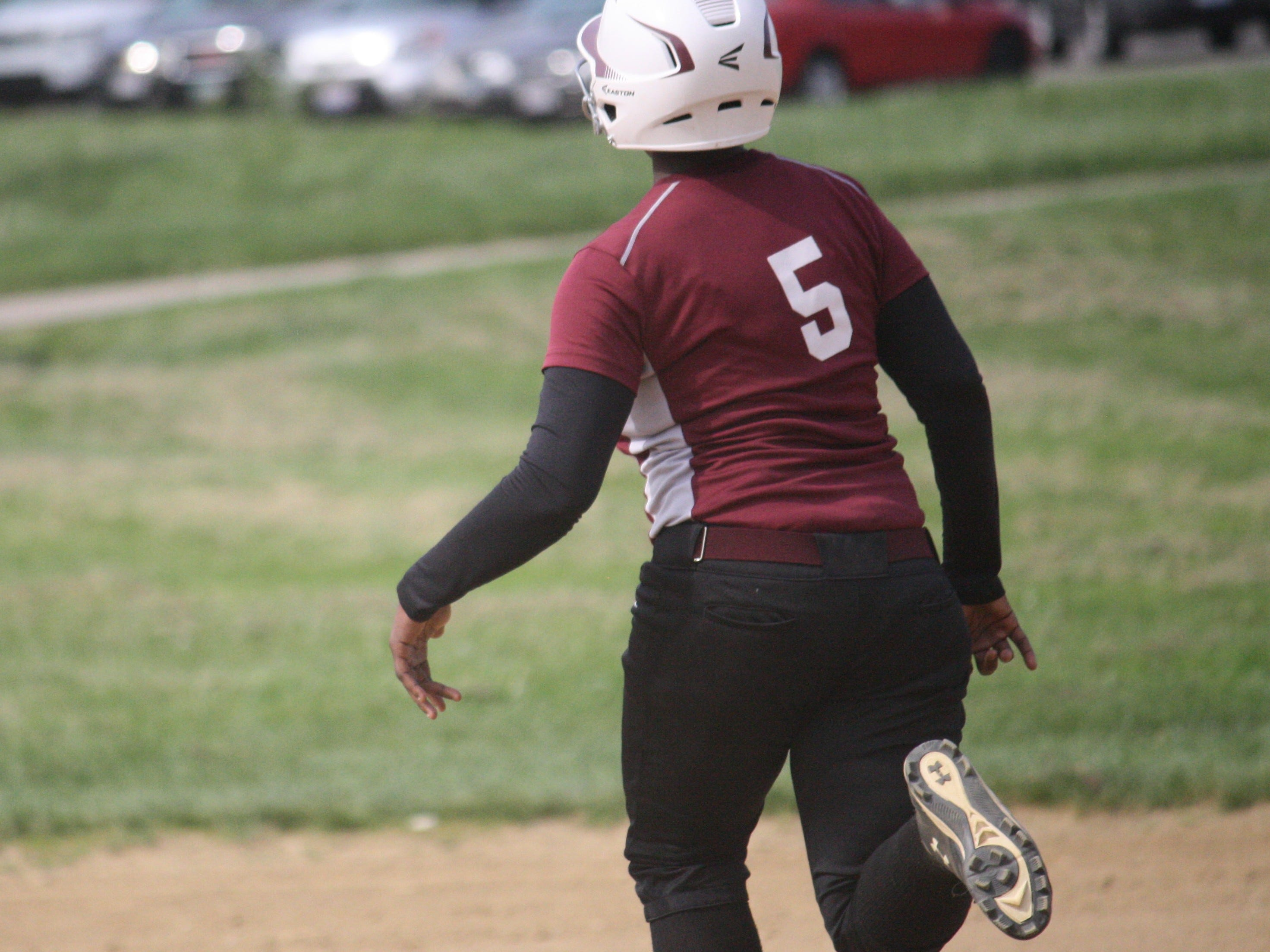 Western Hills' Renee Conners takes off and steals second against Mercy May 8.