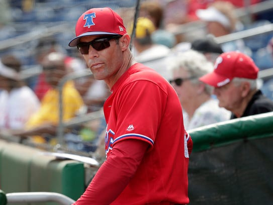 Phillies manager Gabe Kapler begins his first season