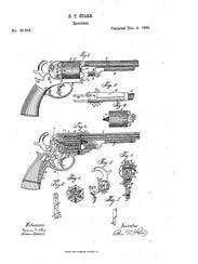 The patent design for the Starr Arms double action