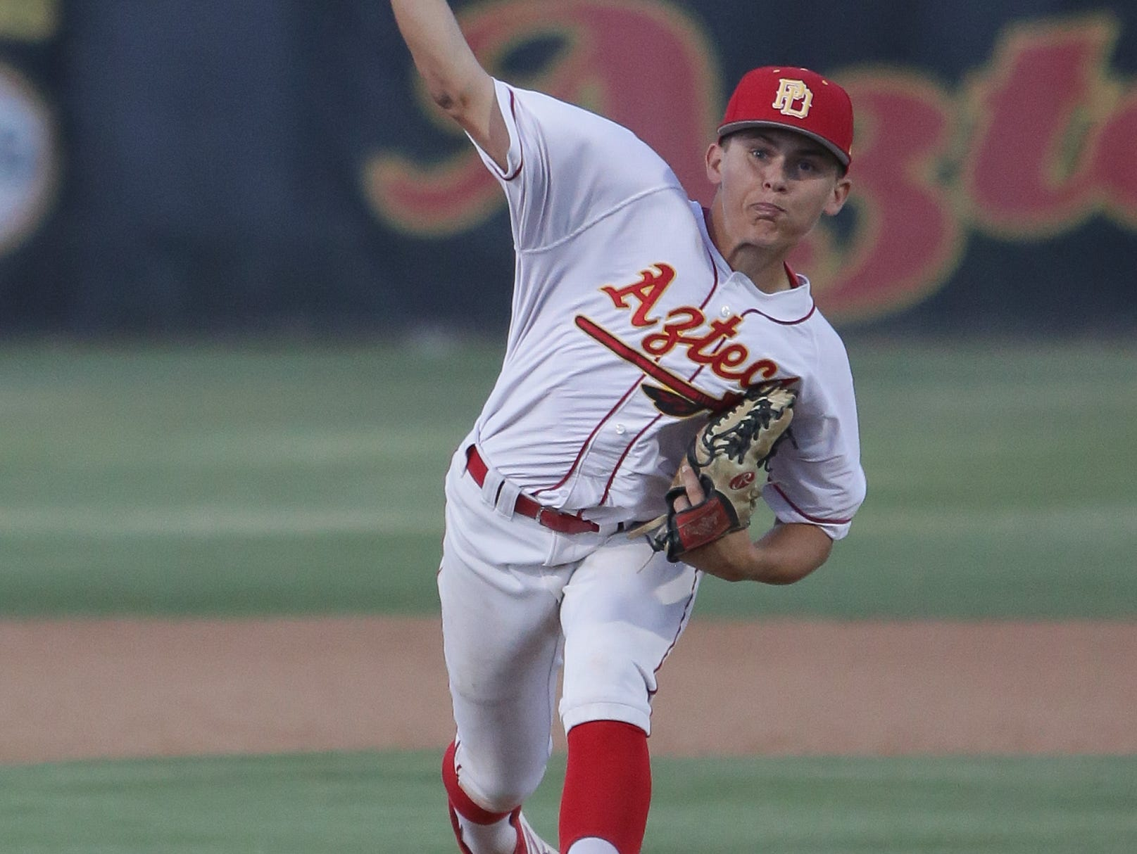 After losing starting pitcher Jeremiah Estrada in the first inning, the Aztecs struggled in their 5-0 loss to Corona.