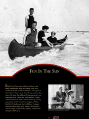 Edsel Ford, Charles and Madeleine Edison and friend Bessie Krup take a canoe to a Southwest Florida island around 1915. The lives of the families are depicted in a new exhibit.