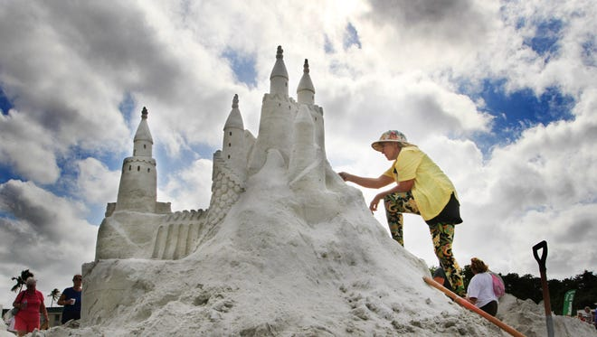 This is a file photo of  the sandsculpting championships held on Fort Myers. Beach.