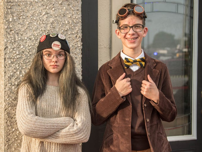 Miriam Brownell as Rose Rita and Sam Rodgers as Lewis