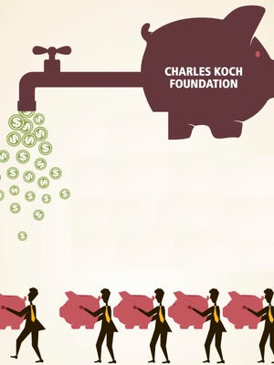 Donations from the Charles Koch Foundation were allegedly mislabeled.