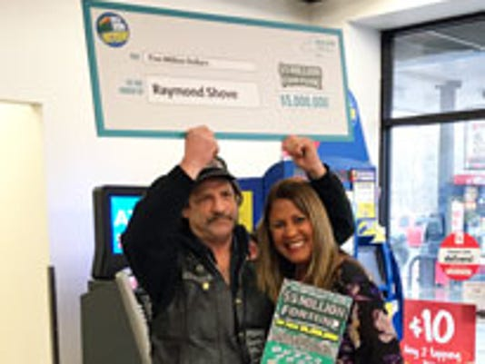 Wayne County $5 million lottery winner gets check from