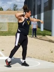 Ventura High's Carlos Aviles has been a powerful star this track season and will compete in the shot put and discus at the Ventura County Track and Field Championships on Friday at Moorpark High.