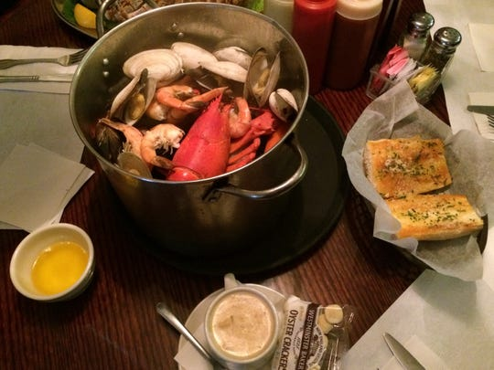 The Clam Bake serves its namesake dish with chowder, garlic bread and, of course, drawn butter.