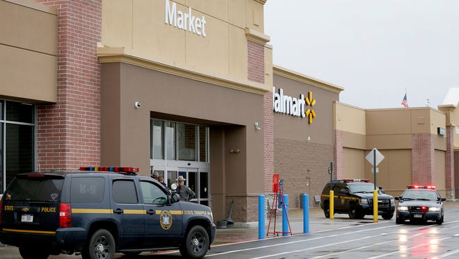Wal-Mart in Horseheads was evacuated shortly after 11 a.m. Saturday because of a bomb threat, New York State Police said.