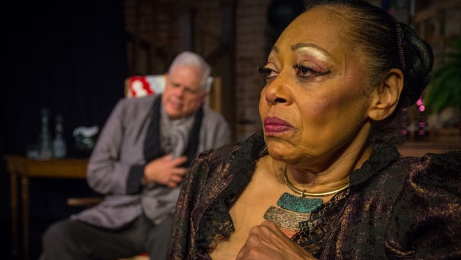 """Helen Shute-Pettaway, foreground, and Rob Wilds in """"The Little Foxes."""""""
