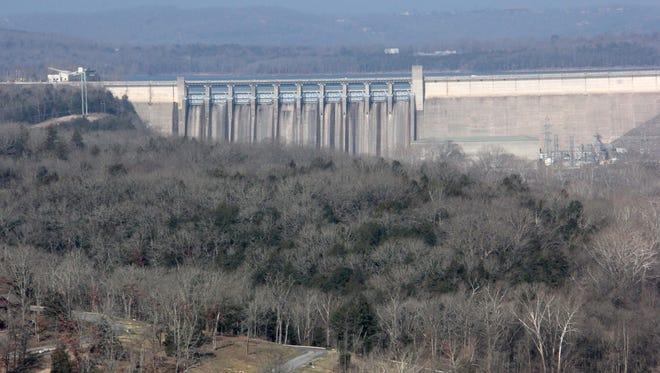 Table Rock Lake dam.