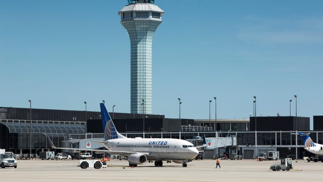 A United Airlines plane at Chicago's O'Hare International Airport.