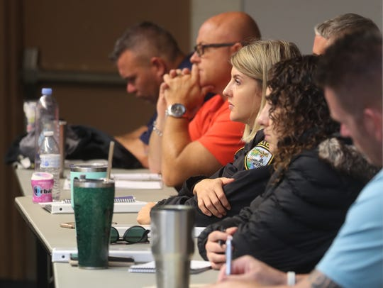 Local School Resource Officers take part in training