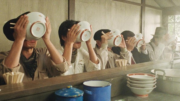 "Jûzô Itami's film ""Tampopo"" will be shown this weekend"