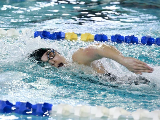 King's Elle Boyd set a new pool record in the 100-yard