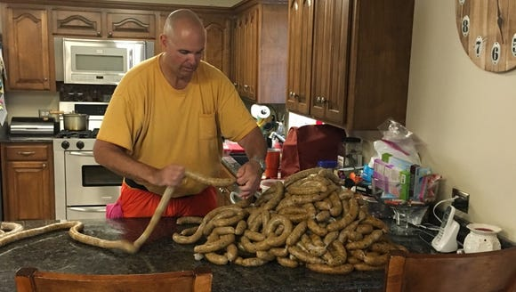 Jim Price makes boudin for friends and family in his