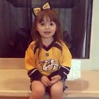 3-year-old girl who gave pep talk to the Predators owes her life to them