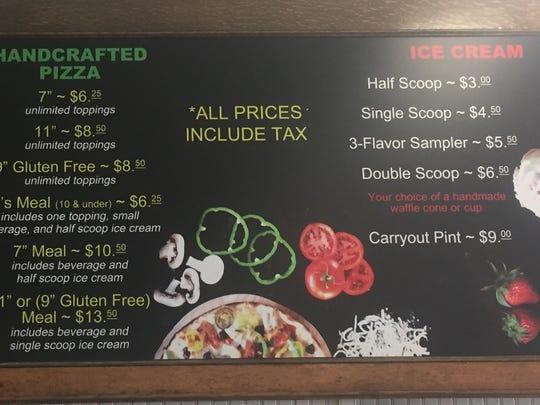 Bliss Artisan Henderson's menu. Co-owner Angie Woodburn said they keep their menu simple on purpose.