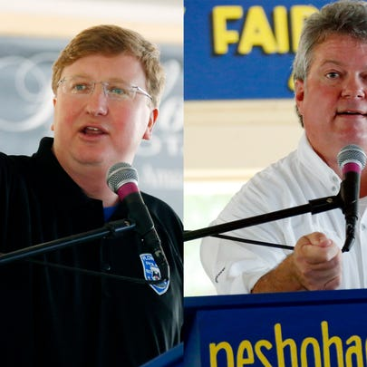 Republican Lt. Gov. Tate Reeves (left) and Democratic