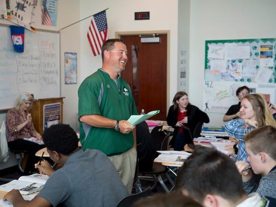 U.S. History teacher Jeremy Jones gets a humorous response