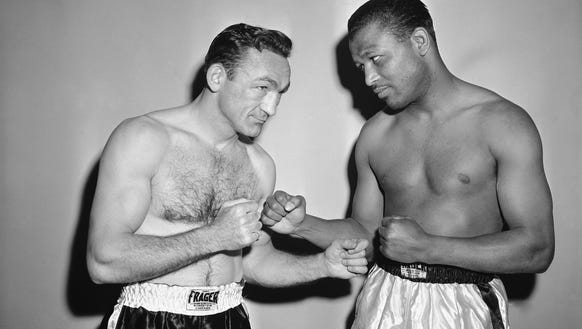 This was a promotional picture before Carmen Basilio,