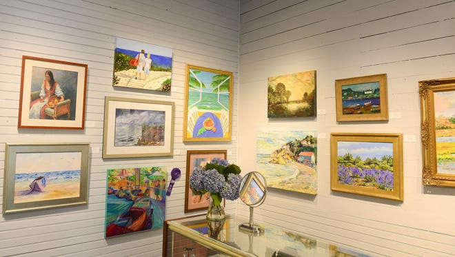 Rehoboth Art League's Corkran, Ventures, and Tubbs Galleries featuring local artists from the area. Tuesday, August 1, 2017.