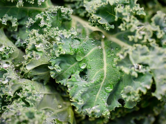 Organic kale in the produce section Tuesday, March