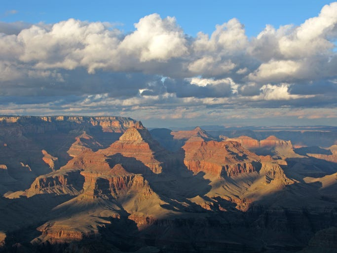 With an average depth of about a mile and a length of 277 miles, the Grand Canyon is like an entire mountain range in reverse.