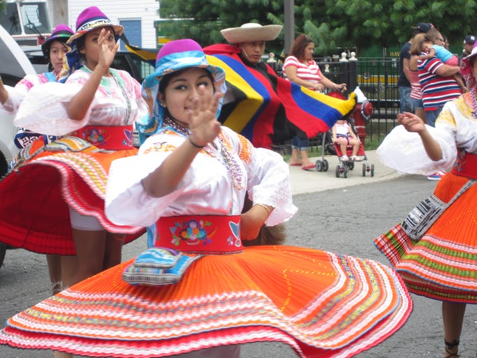 Ecuadorian pride fills Haverstraw streets during the Haverstraw United Latin Parade Aug. 3, 2014.